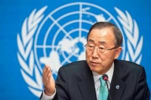Ban Ki Moon, Secretario General de la ONU.