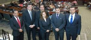 El Consejo de la Judicatura del Poder Judicial,  está integrado por Jorge Rivera Avilés como  presidente, Teodoro Bonilla, como vicepresidente y los concejales Rolando Argueta, Julio Barahona y Francisco Quiroz. Como suplentes a Lilian Maldonado y Celino Aguilera.