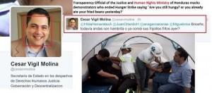 Esta es una captura de pantalla de lo expresado por Cesar Vigil en su cuenta de twitter.