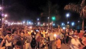 Así se vivió la movilización de las antorchas en la ciudad de El Progreso, Yoro.