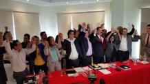 Los líderes de los partidos de oposición sellaron la unidad con la Oposición Indignada.