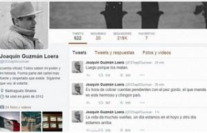 """La cuenta de """"El Chapo Guzmán"""" en Twitter esta activa desde junio de  2012."""