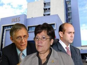 Miembros de la Junta Interventora del IHSS.