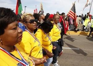 Los negros americanos recorreran 1,300 kilómetros desde Alabama hasta Washington para exigir justicia.