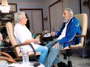 Frei Beto junto al lider cubano Fiderl Castro.
