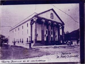 Así lucía el Teatro Manuel Bonilla el año de su inauguración en septiembre de 1915.