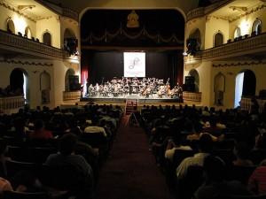 Concierto de la Orquesta Sinfonica Nacional en el Teatro Manuel Bonilla.