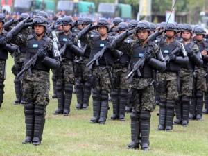 La militarización de la sociedad  hondureña va en aumento en el presente gobierno.