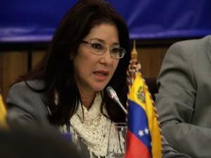 Cilia Flores esposa del presidente de Venezuela, Nicolás Maduro.