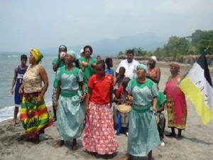 Garifunas de Masca, municipio de Omoa, departamento de Cortés en el caribe hondureño