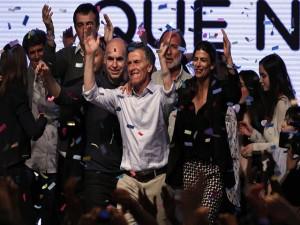 Mauricio Macri el día que resultó electo
