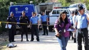 Las autoridades hondureñas llegaron a la escena del hallazgo para hacer las pesquisas