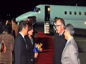 Esta foto registra la llegada de JOH a Alemania.