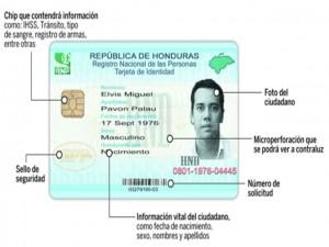 Así sera la nueva identidad en Honduras.
