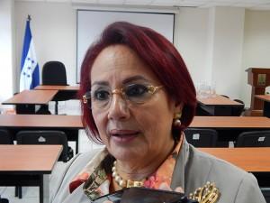 La comisionada presidenta del IAIP, Doris Imelda Madrid.