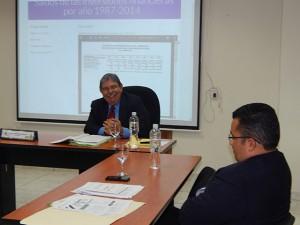 Mientras Eduin Natividad Romero presentaba sus descargos, el comisionado Gustavo Adolfo Manzanares se reía por los vagos argumentos.
