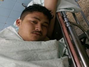 Antony Misdel Lemus Aguilar, fue trasladado al Hospital Escuela