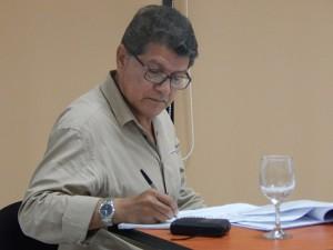 El periodista Gustavo Palencia