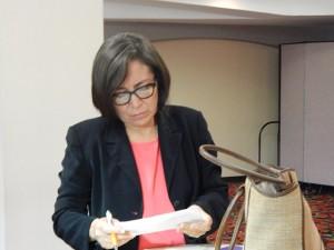 Tirza Flores Lanza, magistrada despedida.