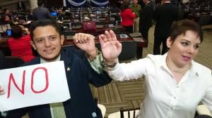 Los diputados aseguran que no tienen miedo de ir presos por hacer público su voto.