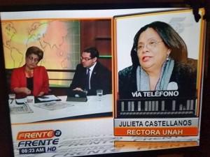 La acusación contra Julieta Castellanos se verificó en el programa Frente a Frente.