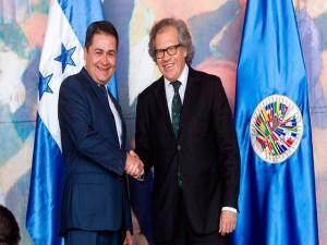 El convenio será firmado por el presidente de Honduras, Juan Hernández y el secretario general de la OEA, Luis Almagro.