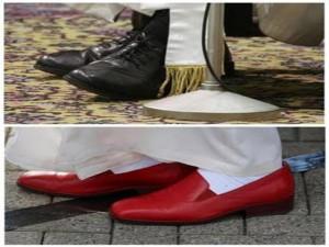 Hasta en los zapatos es humilde el Papa Francisco