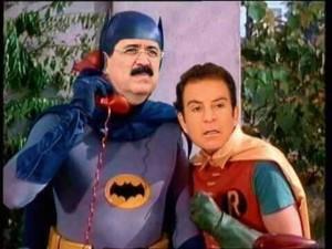 Los legendarios Batman y Robin interpretados por Mel Zelaya y Salvador Nasralla es de las ultimas creaciones