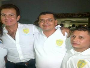 Liberato Madrid junto a Salvador Nasralla y su suplente Oscar Palacios acusado de traicionar la linea del PAC