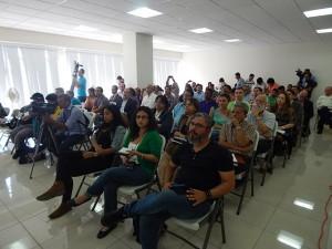 Publico asistente a la presentación del informe del ERIC y Radio Progreso.