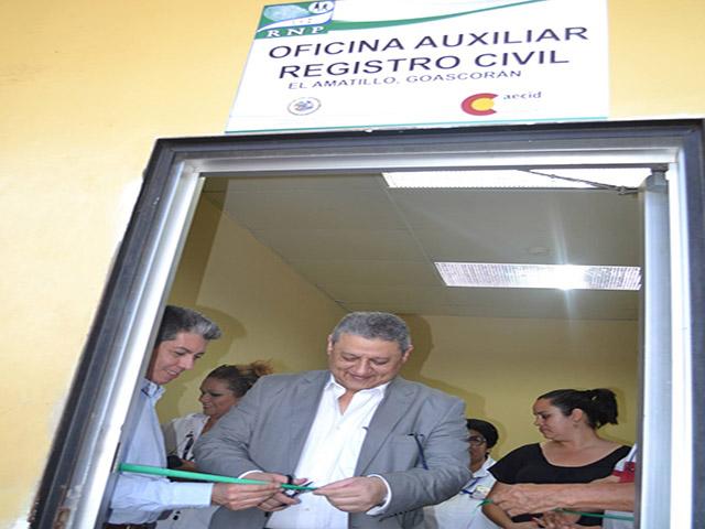 Inauguran oficinas auxiliares de registro civil en las for Oficinas registro civil