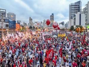 Las manifestaciones en apoyo a Dilma Rousseff son gigantescas en todas las ciudades brasileiras