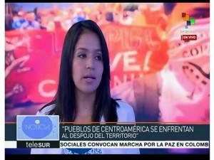 Olivia, hija mayor de Berta Cáceres denunció que ella o sus hermanas pueden ser asesinadas en cualquier momento