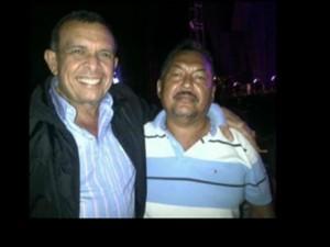 "El expresidente, Porfirio Lobo junto a ""Chepe"" Luna"