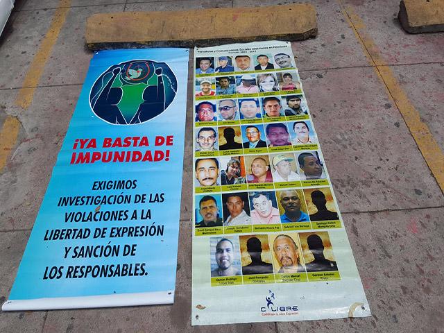 70 comunicadores asesinados en Honduras
