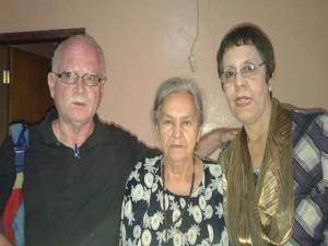 Oscar Avila, Austra Berta Flores y Patricia Murillo en La Esperanza, Intibucá