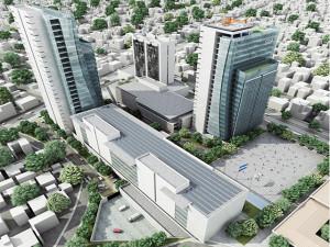 Maqueta de lo que supuestamente será el Centro Cívico Gubernamental.