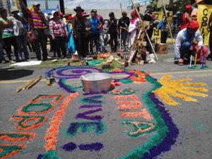 Los pueblos originarios, las mujeres, los jovenes, el FNRP y todas las organizaciones de derechos humanos no descansarán hasta que haya justicia en Honduras