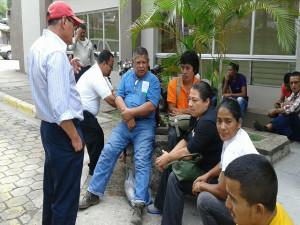 Los y las campesinas del Bajo Aguán acudieron ayer al Juzgado de Sentencia de Francisco Morazán donde fueron absueltos de los cargos que se les imputaron.