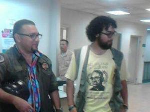 Moisés Cáceres y Cesario Padilla en los tribunales de justicia la mañana de este lunes