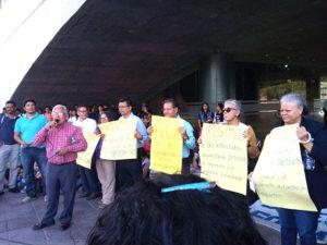 Los catedráticos del área de Ciencias Sociales se sumaron a la lucha estudiantil