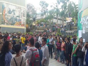 Los estudiantes  cada día se suman a apoyar la lucha que es en beneficio de los mas de 80 mil estudiantes de la UNAH