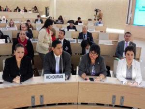 Presentación de informe de derechos humanos ante la OU en 2015