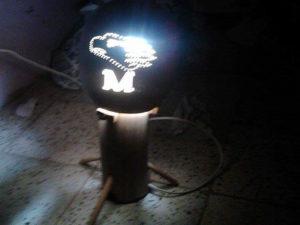 Esta es una lampara alusiva al equipo Motagua