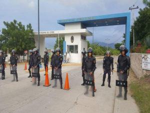 El Centro Regional de Comayagua también esta lleno de policías y militares