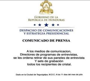 Con instrucciones de la Secretaria de Comunicacion y Estrategia que dirige la ministra que no es ministra