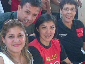 En plena campaña junto a Patricia Murillo, Silvia Ayala y Victor.