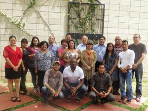 Periodistas asistentes al seminario de capacitación sobre prensa y trata de personas