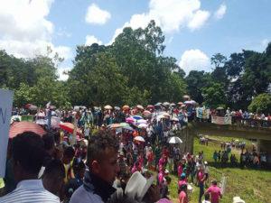 Miles de pobladores ratificaron No a la minería en el municipio de Culmí.