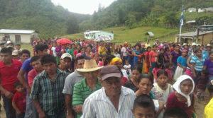 Los pobladores acudieron al llamado de su tierra y de sus recursos